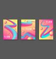 gradient abstract 3d fluid background vector image