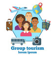 group tourism colorful poster vector image vector image