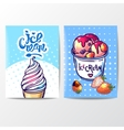 hand drawn ice cream vector image vector image