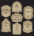 hand-drawn labels on black background vector image vector image