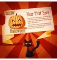 happy halloween cute retro banner on craft vector image