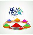 happy holi festival white holi background having vector image