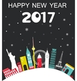 Happy New Year 2017 Travel Background vector image vector image