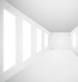 interior gallery windows empty room vector image vector image