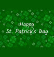 irish feast of st patrick day greeting card or vector image