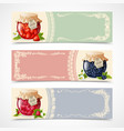 Jam banners set vector image vector image