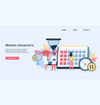 landing page or banner on women climacteric topic vector image