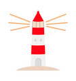lighthouse logo icon path lighting light house vector image vector image