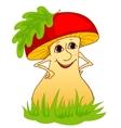 mushroom on a grass vector image