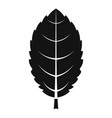 plum leaf icon simple style vector image vector image