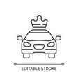 premier cars linear icon vector image vector image