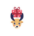 Reindeer head holding