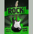rock festival party flyer design template vector image vector image