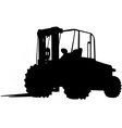 rough terrain forklift silhouette vector image vector image