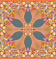 seamless pattern with floral ornament flowers on vector image vector image