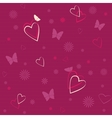 Seamless pattern with hearts and butterflies vector image vector image