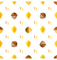 seamless symmetrical pattern with acorns and vector image