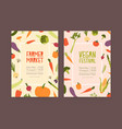 set of flyer or invitation templates for farmer vector image vector image