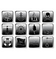 set of nautical icons vector image vector image