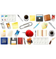 set stationary object vector image