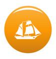 ship excursion icon orange vector image vector image
