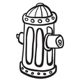 simple black and white fire hydrant vector image vector image