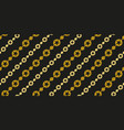 simple gold black garland seamless pattern vector image vector image