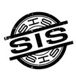 sis rubber stamp vector image vector image