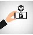 Smartphone security lock internet wifi icon