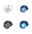 snail icon design vector image