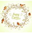 sparrows spring vector image vector image