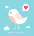 St Valentines day greeting card in flat style Cute vector image vector image