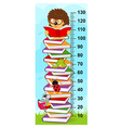 stack of books height measure vector image vector image