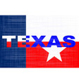 state of texas grunge background vector image vector image