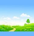 summer green landscape vector image vector image