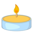 Tealight candle icon cartoon style vector image vector image