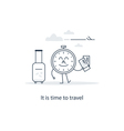 Travel advertising concept vector image vector image
