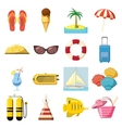 Travel Icons set cartoon style vector image vector image