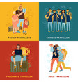 travel tips concept icons set vector image vector image