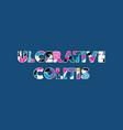 ulcerative colitis concept word art vector image vector image