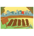 Vegetable Garden in a city vector image