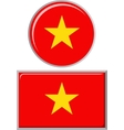 Vietnamese round and square icon flag vector image vector image