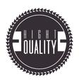 vintage frame quality seal vector image