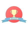 winner sign with ribbon vector image vector image