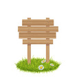 wooden board on grass vector image vector image