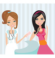 young woman with terrible throat pain vector image vector image