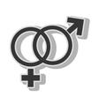 Male female gender symbol vector image