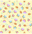 gingerbread pattern for christmas design vector image