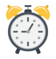 alarm clock flat icon time and deadline vector image vector image