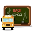 back to school bus and board design vector image vector image